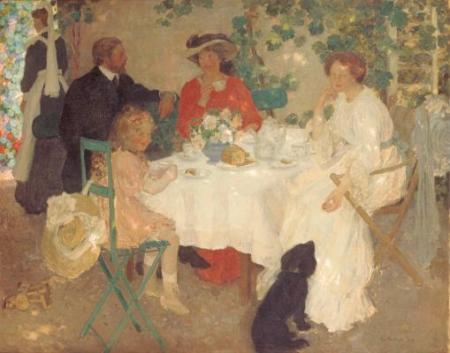 """Tea Party with Dog"""