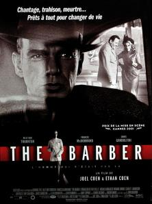 Thornton behind the wheel, Gandolfini in the background with the barber's wife.