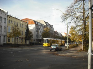 a tram on Grabbeallee