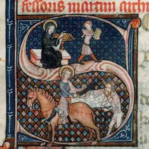 always nice to post a medieval image - the more famous paintings of St Martin show him as a knight in armour, which seems a bit anachronistic