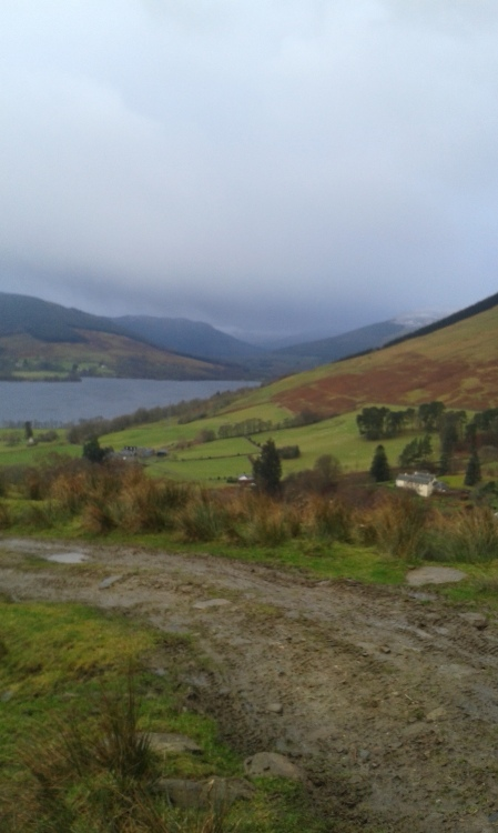 First day's walk - looking down on Loch Earn from the North.